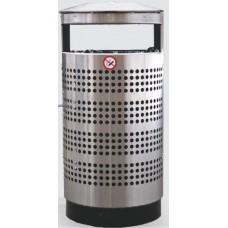 Nerūsējoša tērauda perforēta atkritumu tvertne 70l